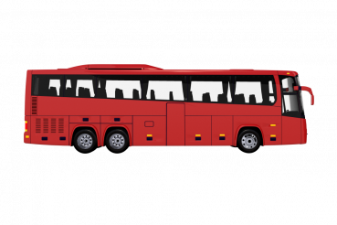 Tour Bus Side View PNG