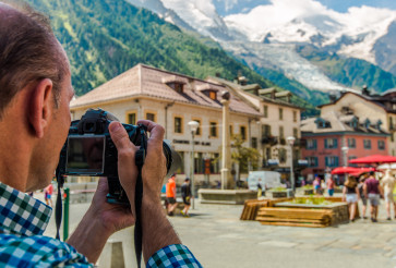 Tourist Taking Picture While on Vacation