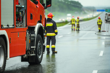 Traffic Accident Emergency Fire Crew