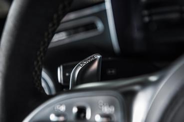 Transmission Paddle Shifter Inside Modern Vehicle