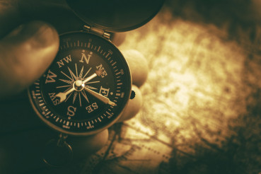 Travel Destination with Compass