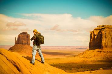 Travel Photographer at Work