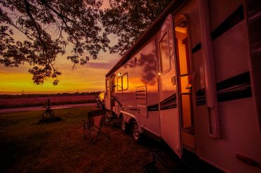 Travel Trailer Camping Spot