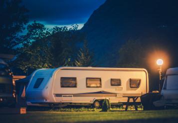 Travel Trailer Campsite