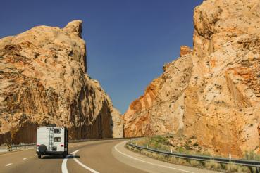 Travel Trailer Scenic Road Trip in the State of Utah