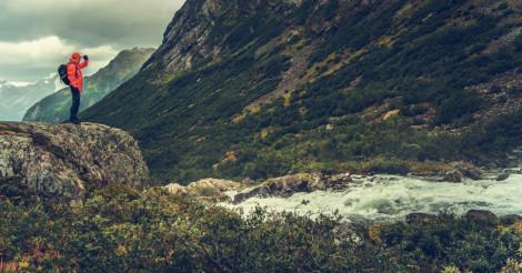 Traveler Exploring Scandinavia