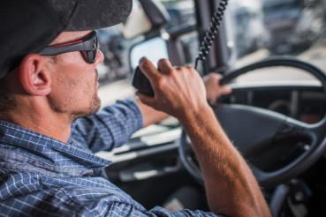Truck Driver CB Talking