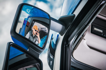 Truck Driver in the Mirror