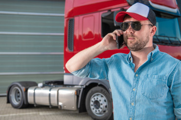 Truck Driver Ordering New Tractor Parts by Phone