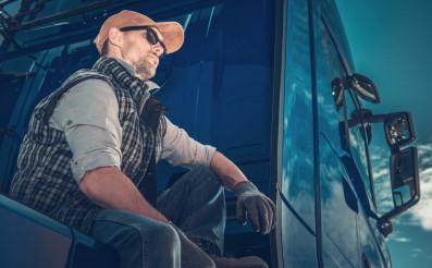 Truck Driver Taking Break
