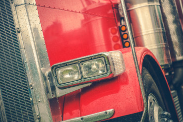 Truck Driving in a Rain
