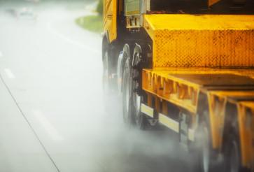 Truck Driving in Heavy Rain