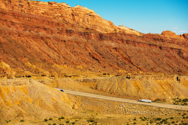 Trucks on the Utah Highway
