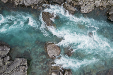 Turquoise Water in the Vestland County Norway River