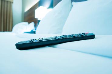 TV Remote Control in Hotel