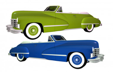 Two Classic Cars Isolated