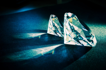 Two Large Diamonds