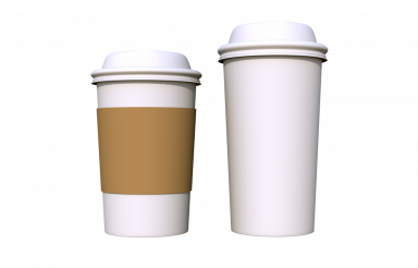 Two Plastic Coffee Cups