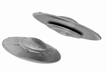 Two UFOs PNG