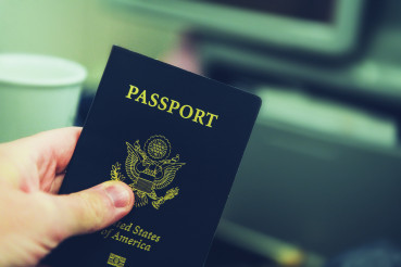 United States of America Passport in a Hand