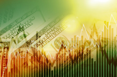 US Dollars Trading Concept