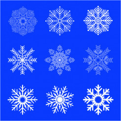 Vector Artistic Snowflakes