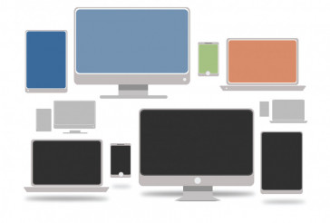 Vector Computers Illustration
