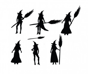 Vector Witches Silhouette