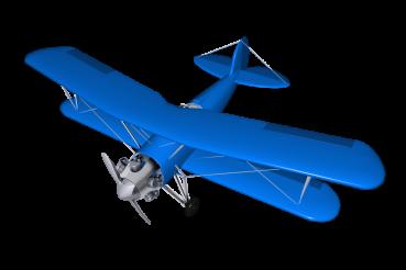 Vintage Biplane 3D