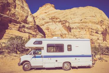 Vintage Camper in Utah