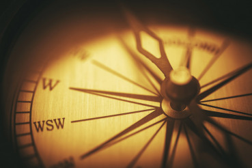 Vintage Compass Closeup