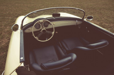 Vintage Convertible Car with Open Roof