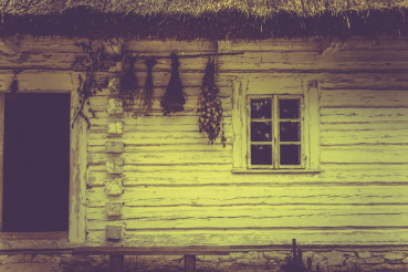 Vintage House in Sepia Colors