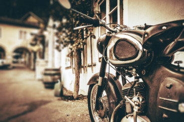 Vintage Motorcycle Closeup