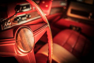 Vintage Red Car Interior