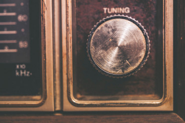 Vintage Tuning Dial in Radio