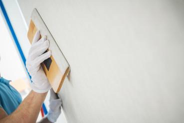 Vinyl Wallpapers Squeegee Tool in Use