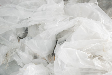 Recycling Of Crumpled Vinyl Waste.