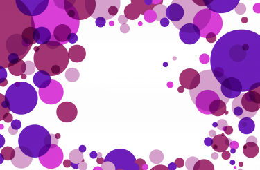 Violet and Pink Circles with Copy Space