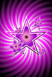 Violet Stars on Spiral Background Vector Design