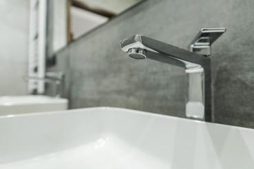 Sink And Bathroom Metal Faucet.