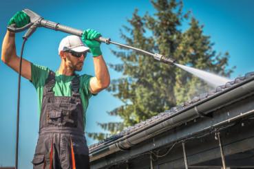 Washing Plastic Carport Roof