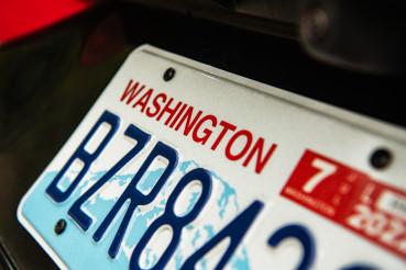 Washington State Vehicle License Plate