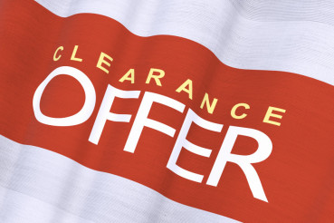 Waving Clearance Offer