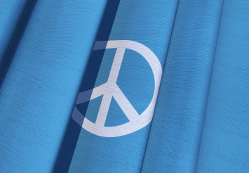 Waving Peace Flag