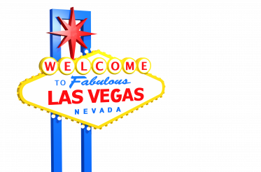 Welcome to Las Vegas 3D Render Sign PNG