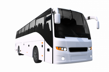 White Tour Bus PNG