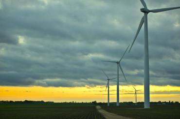 Wind Generators Sunset