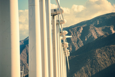 Wind Turbines and Mountains