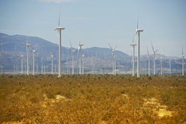 Wind Turbines on Desert